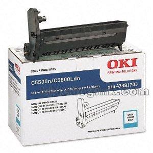 OKIDATA 43381703 OKI CYAN IMAGE DRUM FOR C5800LDN, C5650N, C5650DN - 20K YIELD