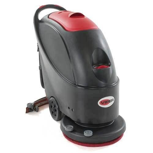 Viper Cleaning Equipment 50000226 AS430C Cord/Electric Scrubber, 17' Brush, 66' Cable Length, 13 gal Tank, 27.8' Squeegee Width, 160 RPM Brush Speed