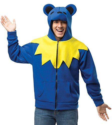 Grateful Dead Dancing Bear Hoodie Color: Blue Size: Medium (Greatful Dead Bear)