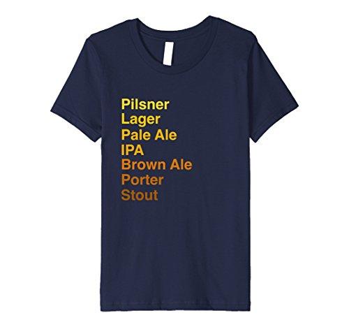 Pilsner Lager (Kids Pilsner Lager Pale Ale IPA Porter Stout Craft Beer Shirt 10 Navy)