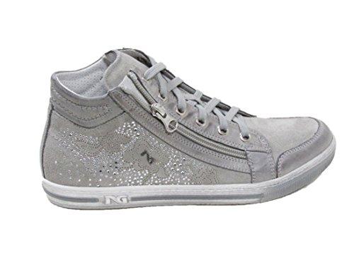 Nero Giardini - Zapatillas de Piel para mujer Gris gris 36 Dream Grigio