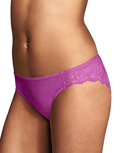 - Maidenform Women's Comfort Devotion Lace Back Tanga Panty, New Vanda Orchid, 6