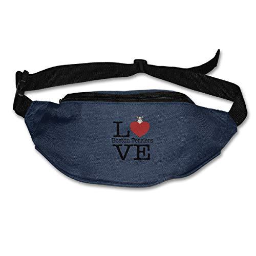 Love Cute Boston Terriers Fashion Sport Waist Bag Pack Adjustable Traveling Unisex]()