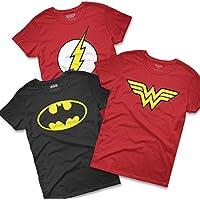 Combo Camisetas Heroínas Mulher Maravilha + Batgirl + Flash