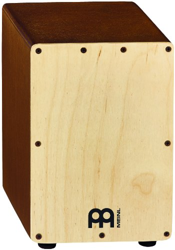 Meinl Percussion Table - Meinl Percussion SCAJ1LB-NT Birch Wood Mini Snare Cajon, Natural Finish (VIDEO)