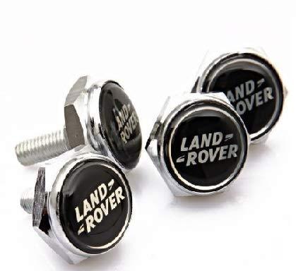 4 Pcs Separate Chrome License Plate Frame Bolt Screws for Land Rover