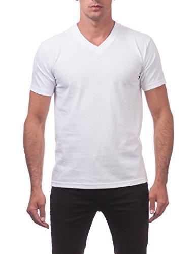 (Pro Club Men's Comfort Short Sleeve V-Neck T-Shirt, Snow White, 3X-Large)
