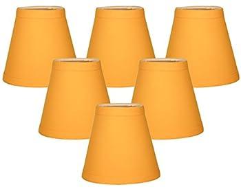 (6-Pack) Yellow Hardback Empire Chandelier Lampshade - Size 5 (CS-1003-5YEL-6)