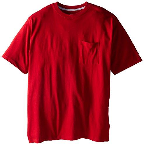 all Jersey Pocket T-Shirt, Cardinal Red, 6X ()