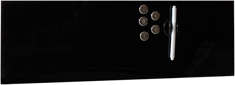 inkl Glas 200x600mm 5 Edelstahlmagnete Edles Magnetboard