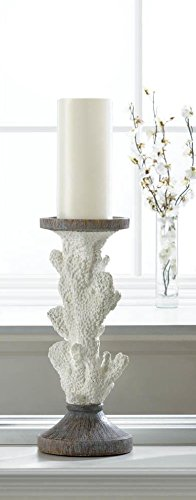 Beautiful White Coral Candleholder Stand New Home Decor Nautical Candle Holder