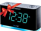 Emerson ER100301 SmartSet Alarm Clock Radio with Bluetooth Speaker, Charging Station/Phone Chargers