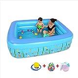 Easy Set Swimming Pool Set - Inflatable Pool/Wading Pool, Rectangular Plastic Garden, 150 * 110 * 55cm,9