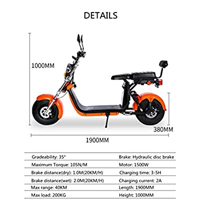 City Coco Electric Scooter 1500 Watt Powerful Electric Scooter : Sports & Outdoors
