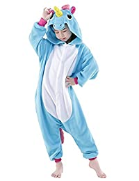 SONGSONGBEAR Halloween Cosplay Costume Unicorn Onesie Pajamas Animal Onepiece