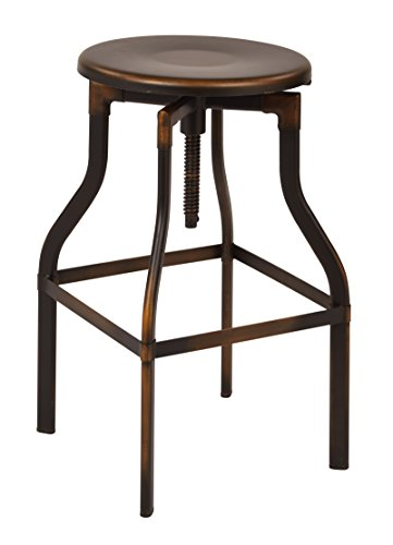 OSP Designs ETV30AS-AC-osp East Vale 30 Metal Barstool, Antique Copper