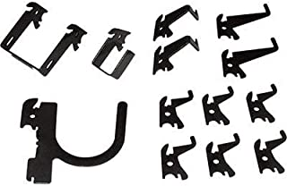 product image for Wall Control Slotted Pegboard Industrial Hook Assortment Kit - 13-Pc. Black, Model Number 35-K-BASBK