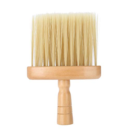 Retro Neck Face Duster Brush, Wood Handle Cleaning Sweep Hairbrush Lightweight Nylon Salon Stylist Tool ()