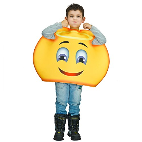 Children Unisex Emoji Costumes Happy Angel One Size