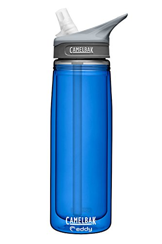 Camelbak Eddy Insulated Water Bottle w/ Bite Valve & Straw - BPA FREE - 20oz/.6L (Cobalt - 20oz/.6L)