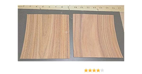 "Rosewood South American wood veneer 7/"" x 9/"" raw with masking tape 1//42/"" thick"