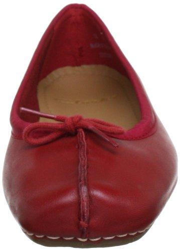 Clarks Geschlossene Freckle Ice, Damen Geschlossene Clarks Ballerinas Rot (ROT Leder) a7b0aa