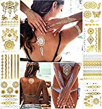 Nekomi Temporary Tattoos Metallic Henna Tattoos