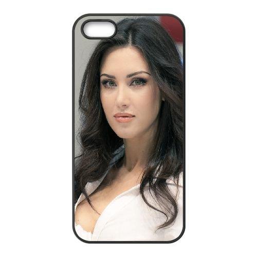 Girl Shirt Brunette 85323 coque iPhone 4 4S cellulaire cas coque de téléphone cas téléphone cellulaire noir couvercle EEEXLKNBC25398
