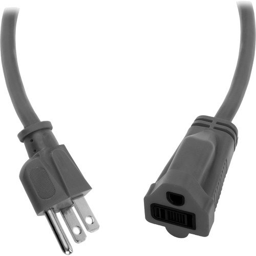 Watson 3 ft AC Power Extension Cord 14 AWG (Gray) by Watson