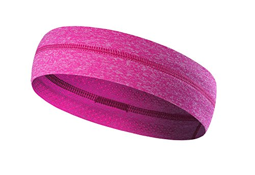 cPettdy Sports Headbands with Non-Slip Silicone - Perfect for Workouts, Yoga,Travel, Running, or Casual Wear - Super Comfortable,Contemporary Style & Premium Quality (Rose - Casual Contemporary