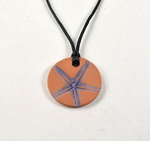 essential-oil-diffuser-necklace-aromatherapy-pendant-with-starfish-imprint-with-violet-blue-stain-by