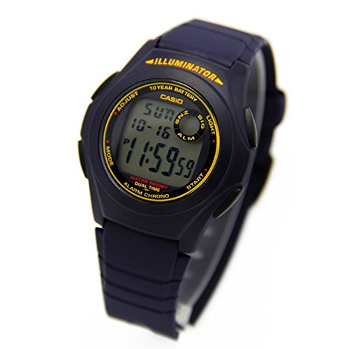 Casio Men's Classic Quartz Watch with Resin Strap, Blue (Model: F-200W-2BCF)