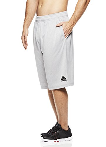 Above the rim Men's Basketball Short Basic Athletic Workout Gym Shorts - Tournament - Cement Heather, X-Large