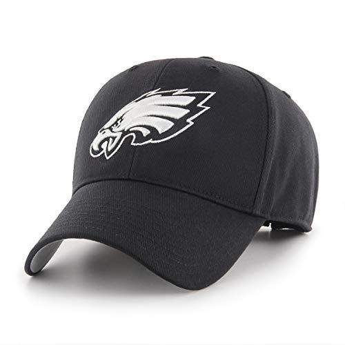 NFL Philadelphia Eagles Men's OTS All-Star Adjustable Hat, Black And White, One Size