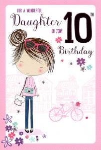 For A Special Daughter on Your 10th birthday card 7794 CG