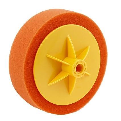 eDealMax 12,8 mm Diámetro del agujero del conector Naranja bola de la esponja de
