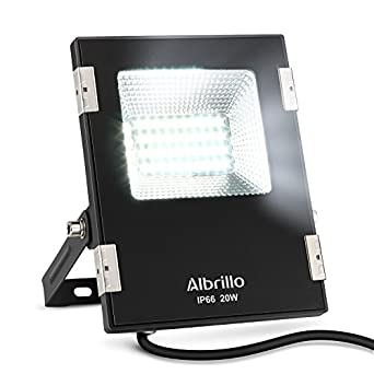 Albrillo outdoor led flood lights 20w 150 watt halogen bulbs albrillo outdoor led flood lights 20w 150 watt halogen bulbs equivalent 1600lm daylight white 6000k waterproof ip66 outside security light aloadofball
