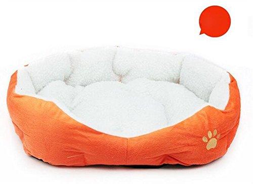Cama para Mascotas Cama de Perro Cama de Dormir para Gatos Cama de Perro de Forma Redonda - Naranja Redonda (46cm*42cm)