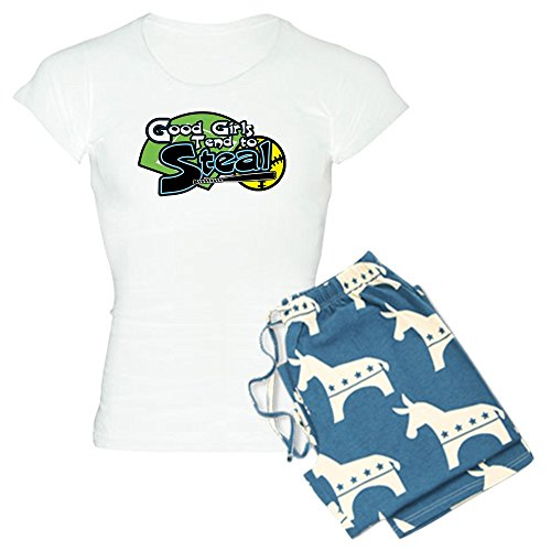 ood Girls Steal - Womens Novelty Cotton Pajama Set, Comfortable PJ Sleepwear ()