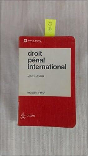 Téléchargement Droit pénal international (Précis Dalloz) epub pdf