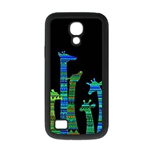 Colorful Aztec Tribal Giraffe Protective Rubber Back Fits Cover Case for SamSung Galaxy S4 Mini i9192/i9198