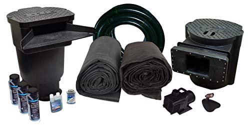 Half Off Ponds Savio Signature Series Water Garden and Pond Kit, Large with 20 Foot x 25 Foot EPDM Liner