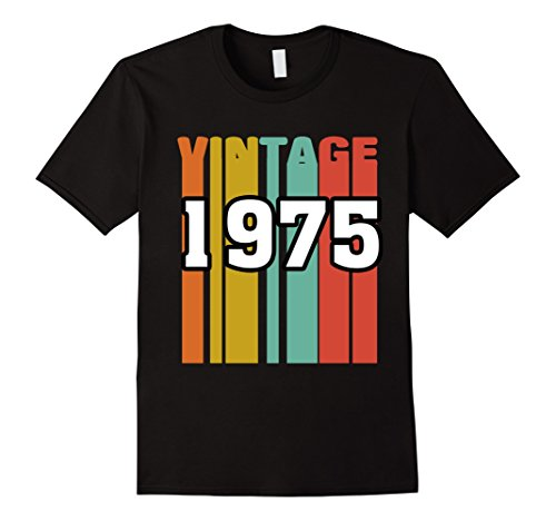 Mens Retro Vintage 1975 T-Shirt 42 yrs old Bday 42th Birthday Tee 3XL Black (Old People+halloween Costume Ideas)