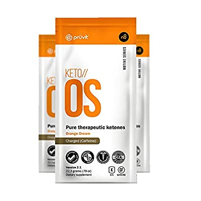 KETO//OS Orange Dream 2.1 Charged, Provides Sharp Energy Boost, Promotes Weight Loss and Burn Fats through Ketosis