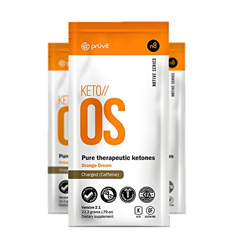 KETO//OS Orange Dream 2.1 CHARGED, BHB Salts Ketogenic Supplement - Beta Hydroxybutyrates Exogenous Ketones for Fat Loss, Workout Energy Boost and Weight Management through Fast Ketosis, 3 Sachets by Pruvit