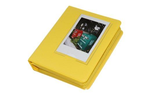 Macaron Colorful Frame PU Leather Mini Polaroid Films Book Photo Album for Fujifilm Fuji Instax Instant mini 7s / 8 / 25 / 50 / 90 / 70 Yellow