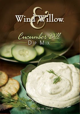 Wind & Willow Cucumber Dill Dip, .84-Ounce Boxes (Pack of 4) Cucumber Dill Dip Mix