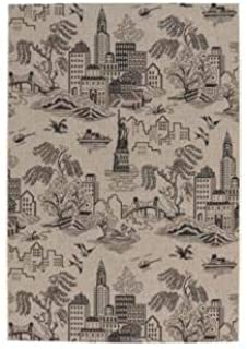 """product image for Elsinore-NY Toile Cinders 7' 10"""" x 11' Rectangle Machine Woven Rug"""