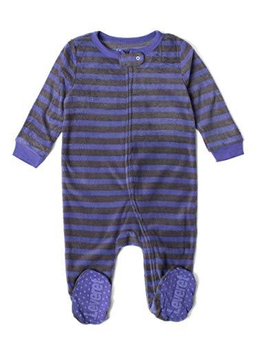 Leveret Kids Fleece Baby Girls Footed Pajamas