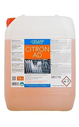 CITRON AD 24KG Detergente liqudio maquina lavavajillas aguas duras, concentrado, alcalino y exento de espuma formulado ...